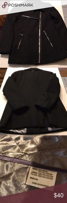 Calvin Klein Coat Ladies Calvin Klein lined wool jacket.  Like new condition. Jackets & Coats