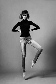 Karlie Kloss in FRAME Denim Forever Karlie jeans by Erik Torstensson via vogue: