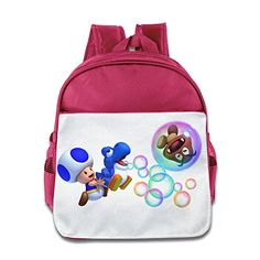 MYKKI Toad And Blue Baby Yoshi Children Design Backpack Pink *** Want additional info? Click on the image.