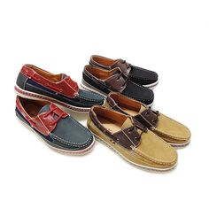 Casual Two-Tone Lace-Up Genuine Leather Shoes - Assorted Colors