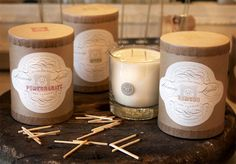 Vintage Style Packaging - candles - nice branding