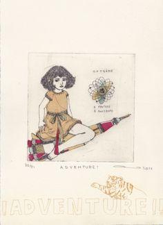 Gravures & Estampes | Atsuko Ishii | Adventure | Tirage d'art en série limitée sur L'oeil ouvert Montage, Adventure, Artist, Artwork, Etchings, Prints, Open Set, Chart, Work Of Art