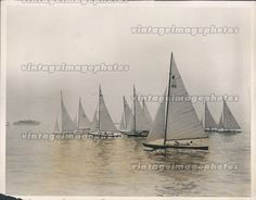 1931 Starr Class Boat Larchmont Yacht Club Regatta Beautiful Water Press Photo