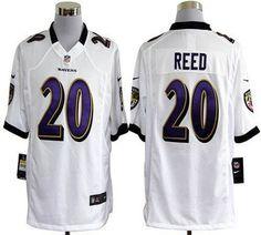 Nike Ravens #20 Ed Reed White Men's Embroidered NFL Game Jersey!$24.00USD Baltimore Ravens Nails, Baltimore Orioles, Afc Nfl, Steelers Ravens, Ravens Game, Ed Reed, Ray Lewis Jersey, Desean Jackson