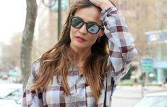Silvia Zamora (stylelovely.com/ladyaddict/) con nuestras gafas Ray-Ban (http://www.andorraqshop.es/gafas/ray-ban.html)