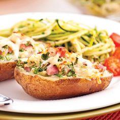Pommes de terre farcies au jambon - Soupers de semaine - Recettes 5-15 - Recettes express 5/15 - Pratico Pratique
