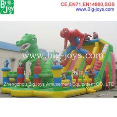 huge inflatable trampoline slope slide, inflatable slip n slide, inflatable sliding games $300~$6000