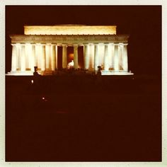 #Lincoln Memorial at Night #new2dc #dc www.new2dc.tumblr.com