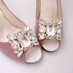 3468b9090 2 Pcs Wedding Rhinestone Crystal Gold Silver Bridal Shoe Clips Charms   Unbranded Silver Bridal Shoes