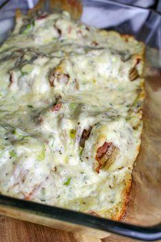 Grey Kitchen Cabinets, Kitchen Cabinet Design, Fodmap, Potato Recipes, Lasagna, Food Inspiration, Dinner Recipes, Dinner Ideas, Bacon