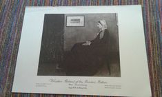 Portrait Of The Painter's Mother by Whistler by MarysCuriosityStore on Etsy James Mcneill Whistler, Famous Pictures, Explain Why, Portrait, Prints, Etsy, Men Portrait, Portrait Illustration, Portraits