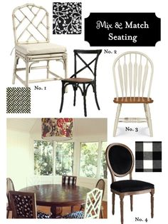 mix and match chairs for the dining room