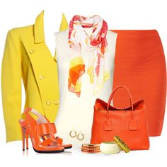"""""""CANDY CORN COLORS"""" by tufootballmom on Polyvore"""