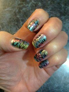 Nails by Nancy :) zebra stripes.