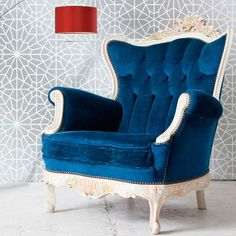 Moroccan Wall Stencils | Starry Moroccan Night | Royal Design Studio also, that chair