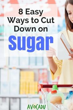 Sugar is public enem Sugar is public enemy when it comes to eating healthy. Use these easy ways to cut down on sugar to stop weight gain and even LOSE weight! Losing Weight Tips, Weight Loss Tips, How To Lose Weight Fast, Fast Weight Loss, Weight Gain, Fat Fast, Slim Fast, Reduce Weight, Smoothie Detox