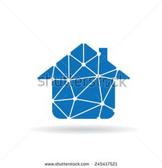 House with triangles. Network concept