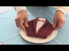 Servietten falten: Sakko - Einfache Anleitung Servietten falten. Hemd zur Hochzeit, Vatertag - YouTube