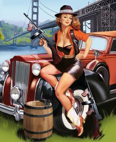 Vintage Cars Illustration Pin Up 25 Ideas Pin Up Vintage, Vintage Girls, Vintage Art, Pin Up Illustration, Rockabilly Art, Pin Up Girls, Fotos Pin Up, Pin Up Pictures, Poster
