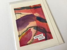 Watercolor Blank Greeting Card Stationery OOAK by HeidiKindFinds