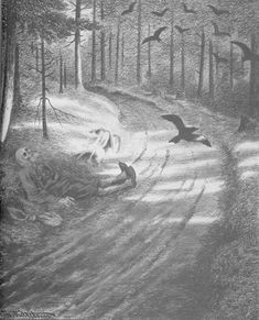 """""""Fattigmannen"""" (The Pauper) by painter and illustrator Theodor Kittelsen drawn in published in 1900 Used As Black Metal artist Burzum on their album """"Hvis Lyset Tar Oss"""" (If Light Takes Us) Theodore Kittelsen, Album Art, Heavy Metal, Graphic Artist, Black Metal Art, Image, Dark Art, Pictures, Cover Art"""