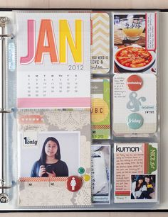 In a Creative Bubble: Project Life Love this simple approach to project life. Less stress on having lots of photos, more focus on words. Like the monthly intro pages. Beautiful fonts and elegant use of color and graphics.