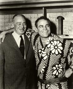 With his father, Marlon Brando Sr.
