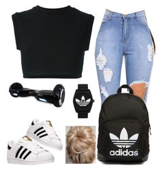 """""""#contest  like or nah?"""" by lovermonster ❤ liked on Polyvore featuring adidas Originals, adidas, women's clothing, women, female, woman, misses, juniors and madisbookbagcontest"""