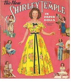 Kathleen Taylor's Dakota Dreams: Thursday Tab- Saalfield #2426 The New Shirley Temple, 1942-cover