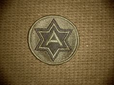 "Vintage Vietnam Era Military 3 six sided ""A"" Star Patch Green/Black"