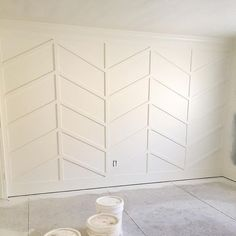 Herringbone wainscoting- what?!? Love!