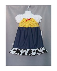 RESERVED FOR SONYA Jessie Toy Story Inspired Girls Size 4/7-8 Princess Dress