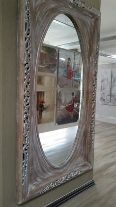 REGALesque weathered wood mirror