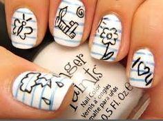 Resultado de imagen para uñas pintadas con diseños para adolescentes paso a paso