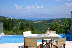 The Artists' House - Corfu Villas In Corfu, Villa With Private Pool, Vintage Travel, Terrace, Greece, Patio, Artists, Beach, Outdoor Decor
