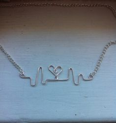 Items similar to Heartbeat necklace, nurse necklace EKG, heart, Valentine's day gift, Mother's Day on Etsy Cna Nurse, Nurse Life, Wire Crafts, Jewelry Crafts, Cardiac Nursing, Nursing Assistant, Medical Design, Physician Assistant, Nursing Notes