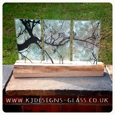 Trees glass forest wood art glass