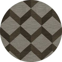 Dalyn Rug Co. Bella Brown/Gray Area Rug Rug Size: Round 6'