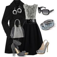 Love the ruffle top...sometimes I wish I worked somewhere to dress like this...