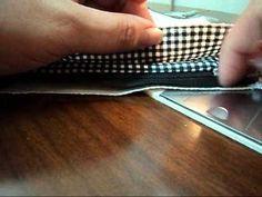 costurando ziper com forro