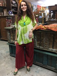 6af77b9af08 Mogul Womens Poncho Top Tie Dye Print Neck Embroidered Bohemian Caftan  Blouse (Red) at Amazon Women's Clothing store: