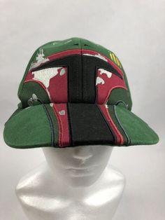 Star Wars Boba Fett Tek Flex Character Face Men s Fitted Hat Cap Green Red  1594be10c1d3