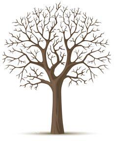 Векторный силуэт дерева зимнего сезона - Stock Illustration LoopAll #5783438
