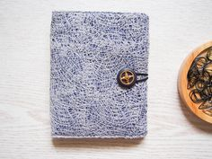 Fabric Traveler's Notebook : Grey lace by Catisfy on Etsy