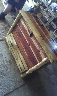 Rustic Cedar Chest w/ Drawer