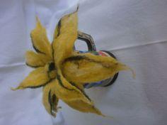 Wool  Felt Brooch Flower Accessory by FahionFeltProducts on Etsy