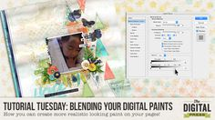 Quality Scrapbook Tutorials: Blending Your Digital Paints from The Digital Press