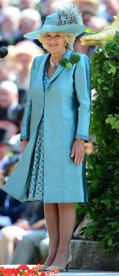 The Duchess of Cornwall attended the annual Founder's Day Parade at the Royal Hospital Chelsea, London 6th June 2013