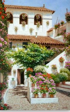 Pinturas Cuadros: Pinturas: Paisajes con flores. by Jesús Fernandez Romero.