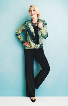 Printed Washed Satin Cardigan Jersey Reversible Cowl Classic Jersey Pant
